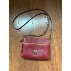 Dooney and Bourke Maroon Leather Crossbody Purse